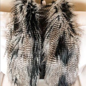 H&M Fur Vest Sz 2
